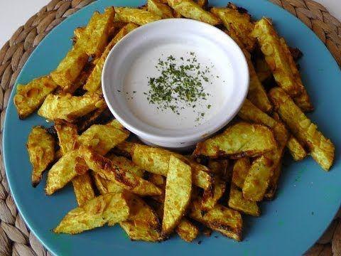 Originální recepty podle LU: Celerové hranolky s mandlemi a dipem - YouTube