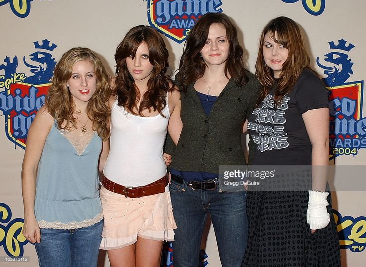 The Donnas during Spike TV Video Game Awards 2004 - Arrivals at Barker Hangar in Santa Monica, California, United States.