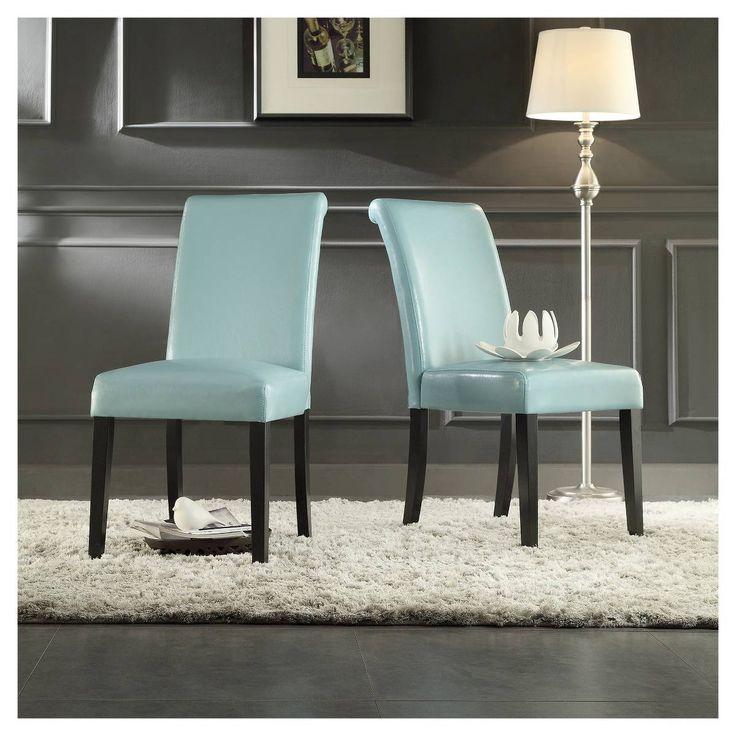 salido parson dining chair woodsky blue set of 2 inspire q