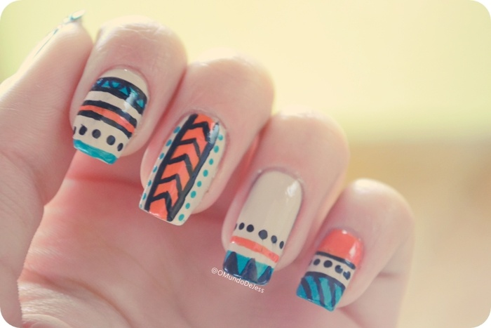 Aztec Nails by Jess