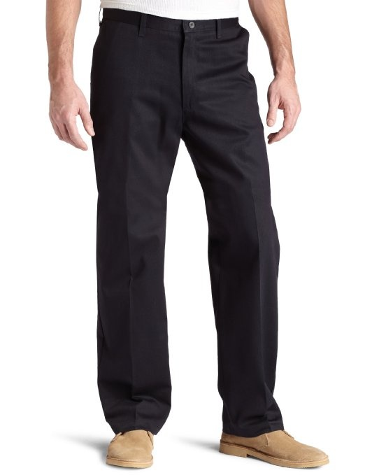 Amazon.com: Lee Men's Wrinkle Resistant Relaxed Plain Front Twill Pant: Clothing