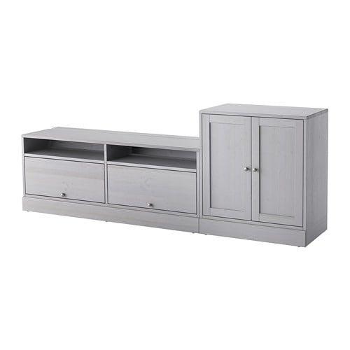 3cf2aa3ddbe IKEA - HAVSTA TV storage combination gray
