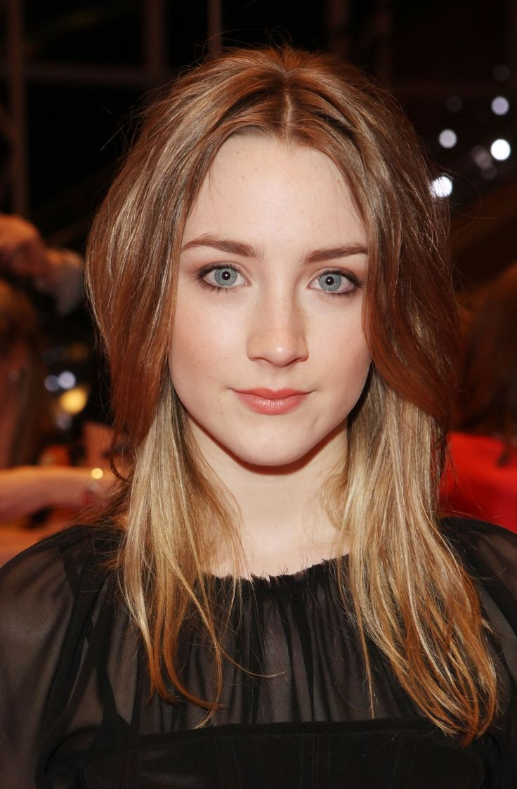 Love Saoirse Ronan's natural makeup looks... gorgeous looks for fair skin with light eyes and  hair.