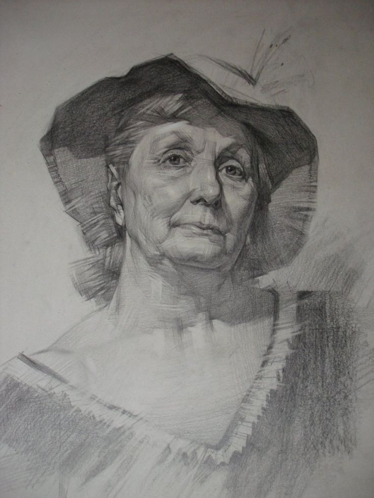 Portrait of the old woman by ivany86.deviantart.com on ...