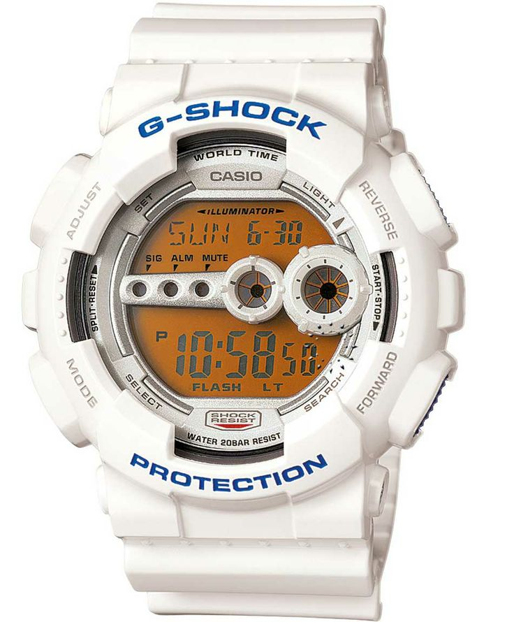CASIO G-SHOCK Digital Chronograph White Rubber Strap Η τιμή μας: 118€ http://www.oroloi.gr/product_info.php?products_id=37374