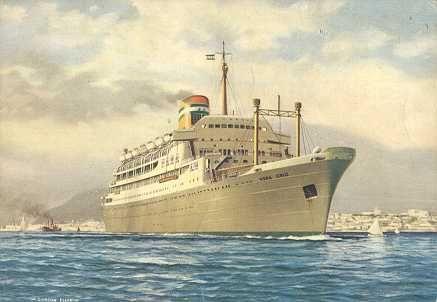 Paquete Vera Cruz, ao serviço entre 1952-1973, transportava 1182 passageiros
