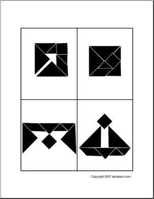 Math Worksheets _ Tangrams