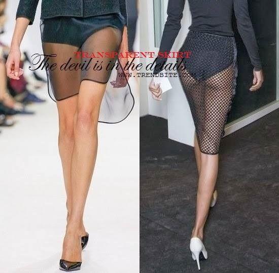 Transparent Skirt | Fashion Finds | How To Wear > http://www.trendbite.com/2014/03/transparent-skirt-dsquared-gaultier.html#.Vbp_xPl7NOY