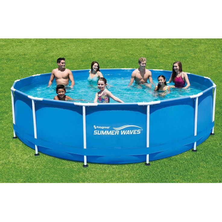 """Swimming Pool 15' x 42"""" Round Metal Frame Above Ground with Deluxe Accessory Set #1"""