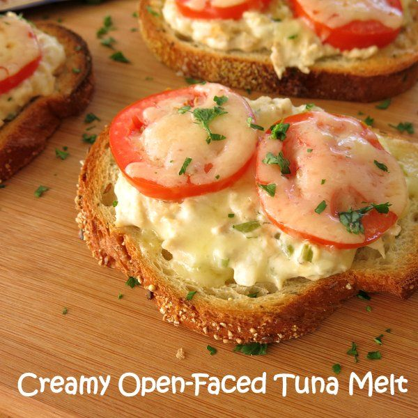 Creamy Open Faced Tuna Melt Sandwiches come together in less than 20 minutes! #BumbleBeeB2S #CleverGirls #sponsored