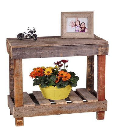 Love this Natural Barnwood Console Table on #zulily! #zulilyfinds