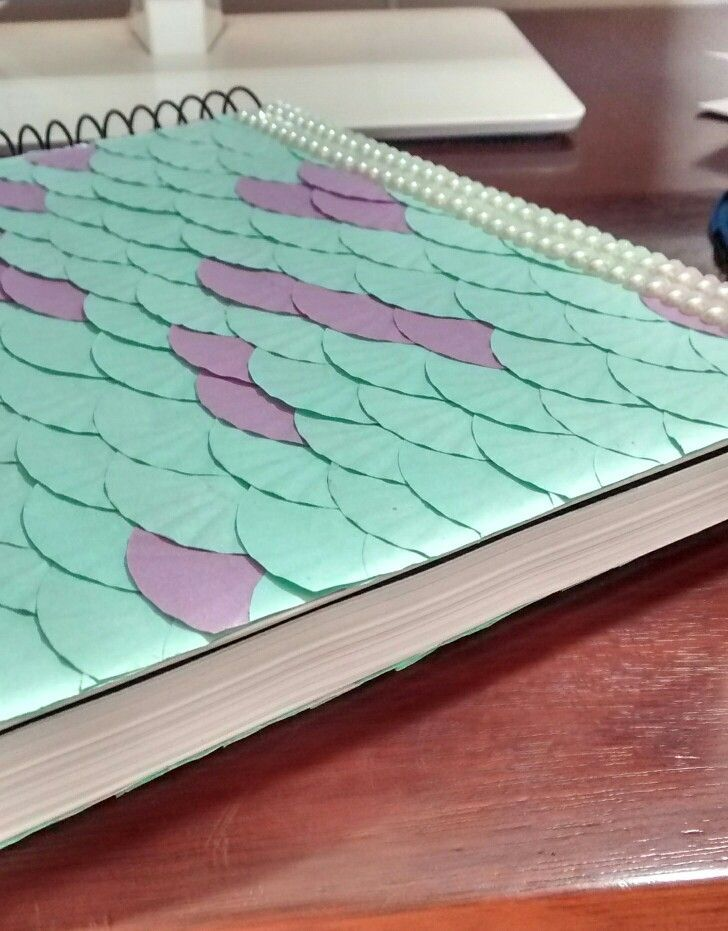 Diy Unicorn Book Cover : Mermaid notebook diy