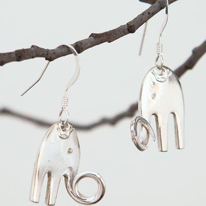 Kaksi pientä elefanttia, korvakorut | Weecos