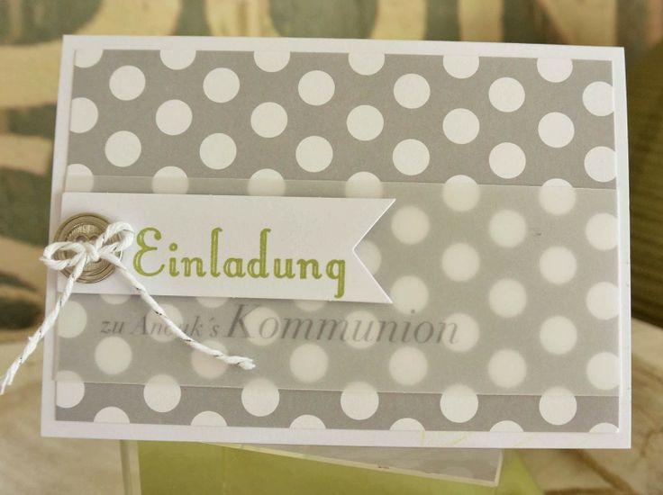 klikaklakas kreativer kram: Kommunion - Einladungen, Gastgeschenke Teil I