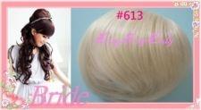 Bride wedding Bun hair piece hair extensions #613 beach Blonde