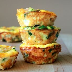 Mini Frittata. Perfect for school lunch or party food.
