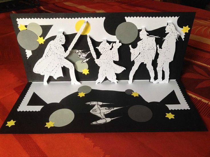 Kirigami star wars kirigami pinterest kirigami for Kirigami paper art