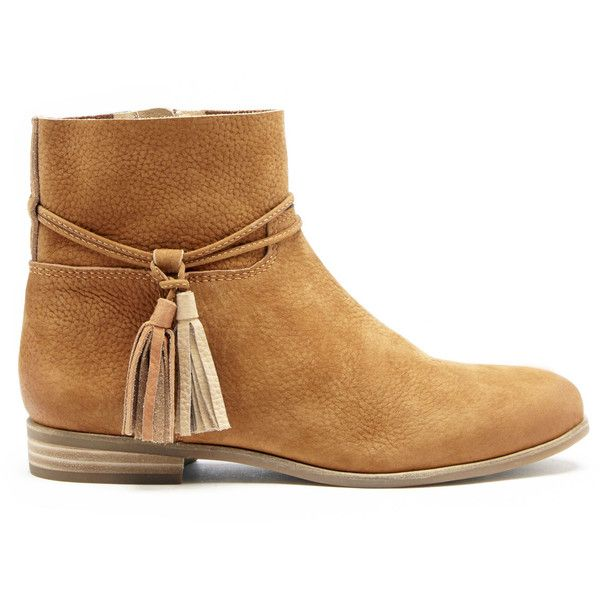 Lucky Brand Gloriana Flat Leather Bootie ($139) ❤ liked on Polyvore featuring shoes, boots, ankle booties, toast magma bisque, leather ankle boots, flat ankle booties, leather ankle booties, leather bootie and flat leather boots