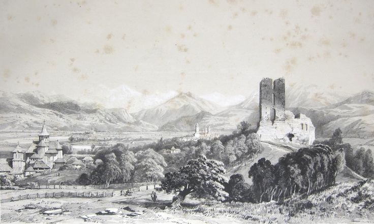 Vedere a orașului și Mănăstirea Arges