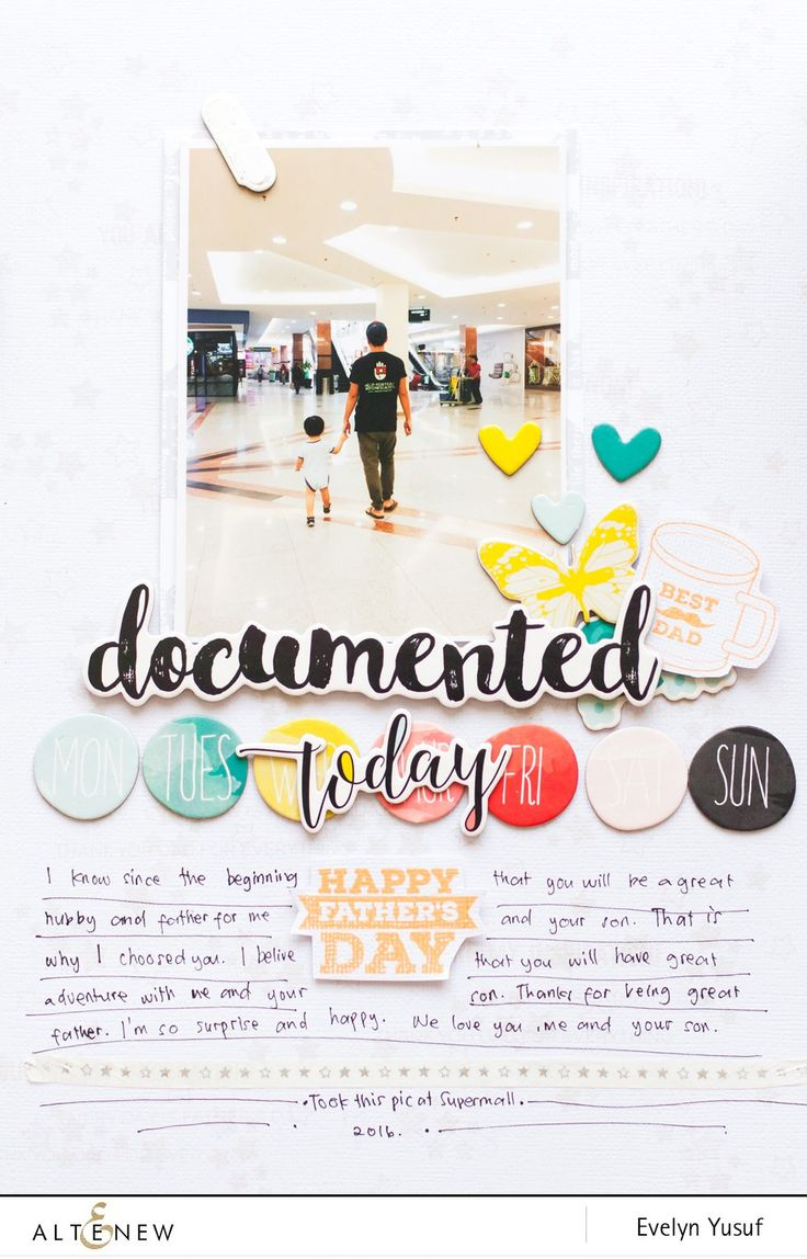 Video: Father's Day Scrap Layout Tutorial With Evelyn - Altenew Blog