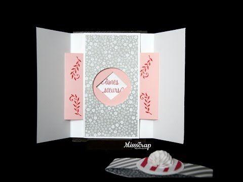 Tutoriel en vidéo: carte obturateur ou Shutter opening/closing card | Missscrap