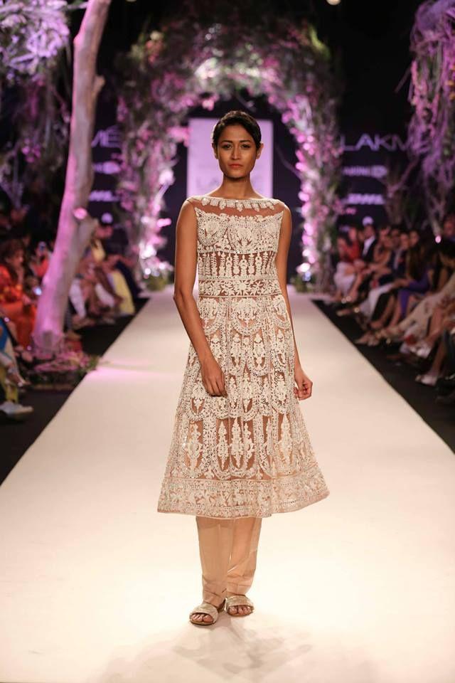 Lace suit by Manish Malhotra. Lakme Fashion Week 2014