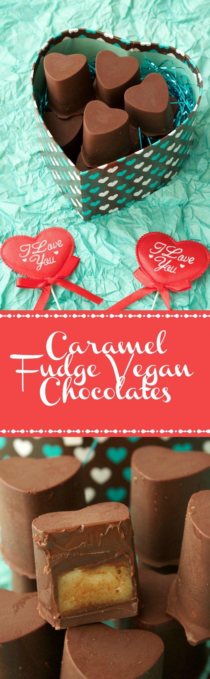 Caramel Fudge Vegan Chocolates | Loving It Vegan