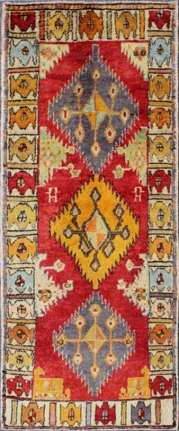 "KEIVAN WOVEN ARTS,   Type :	Oushak Origin :	Turkey  Size :	 3'7""x9'3""  Circa :	1940"