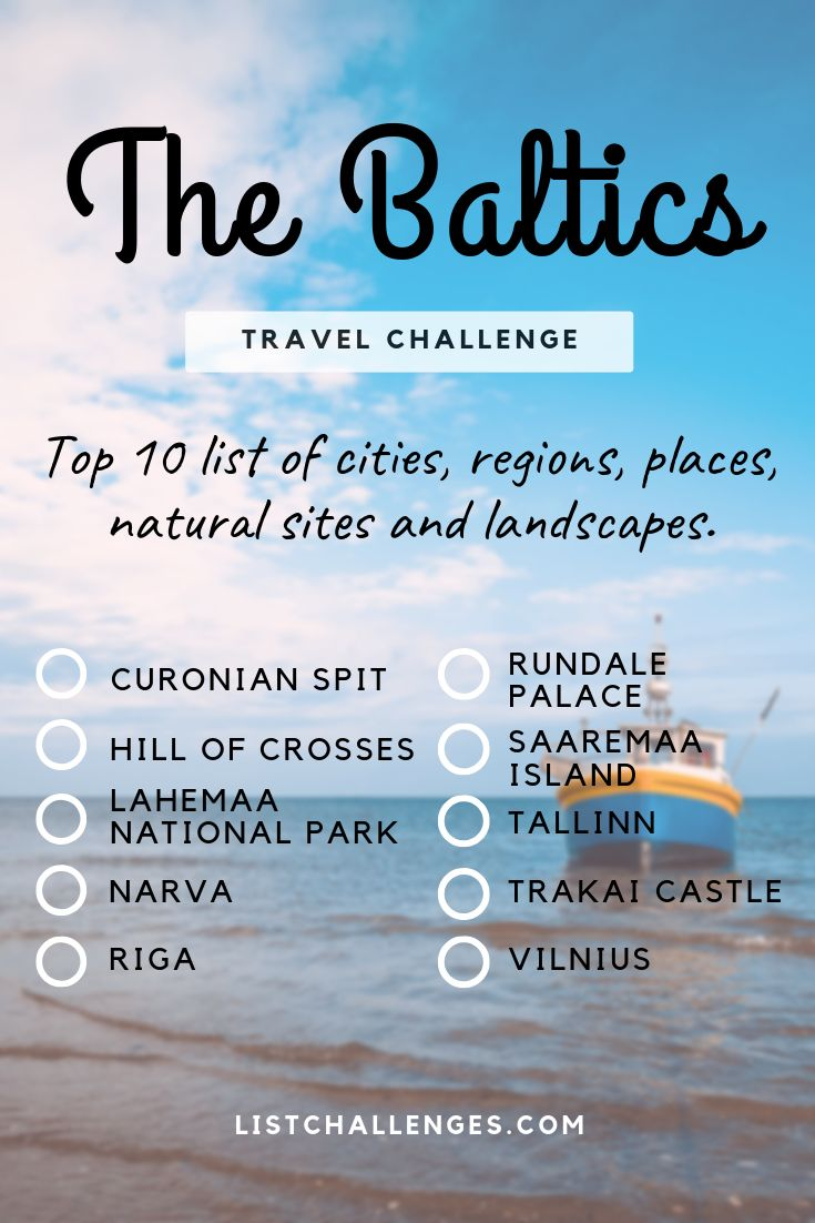 TOP 10 Travel List : Baltic States – How many have you visited ? – Sophie
