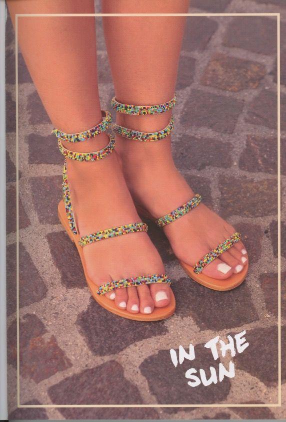 Sandali con perline multicolore Les Tropeziennes Olga su www.calzaveste.it