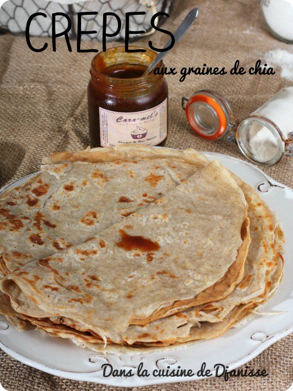 Vegan recipe : chia french crêpes