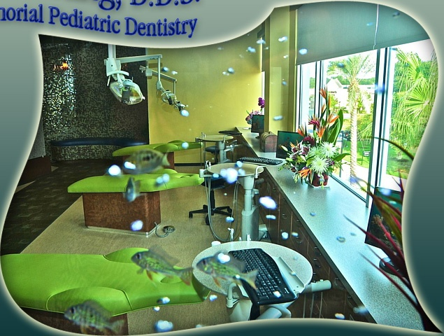 The lime green is fun for a pediatric dental operatory for Dental office design chapter 6