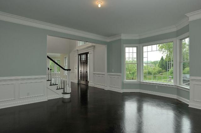 Formal living room in love with the walls and floors!!