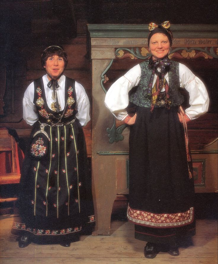 FolkCostume&Embroidery: Overview of Norwegian Costumes, part 2. The eastern heartland. Upper Numedal