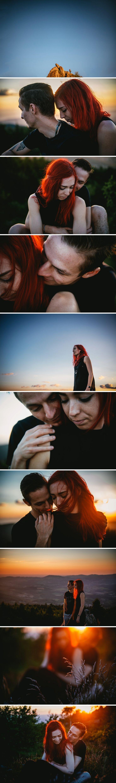 Photos de couple en pleine nature au sommet d'une montagne // Zephyr & Luna