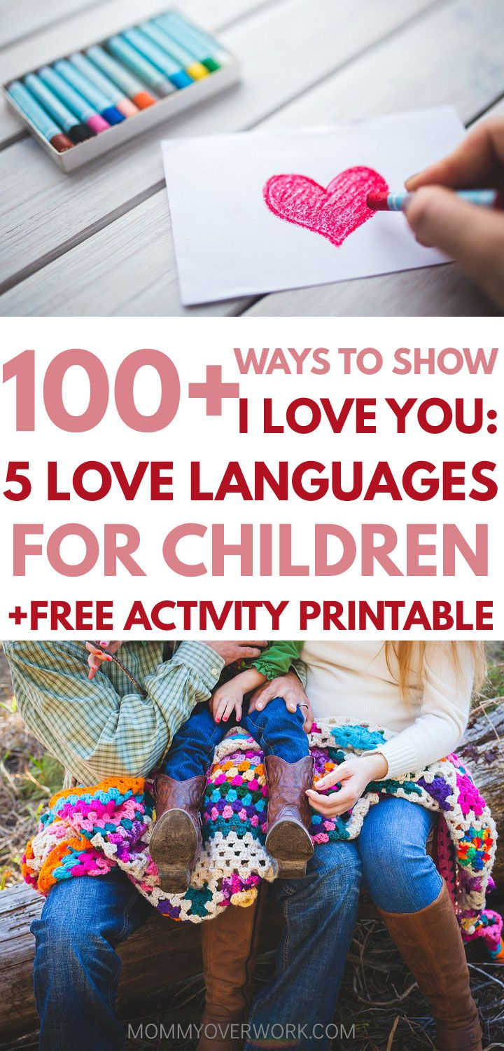 A GREAT list of over 100 ways to love your children using the 5 love languages for kids. Absolutely love the free printable love bingo activity, which will help me with my positive parenting! Definitely doing with my kids! #parenting #positiveparenting #freeprintables
