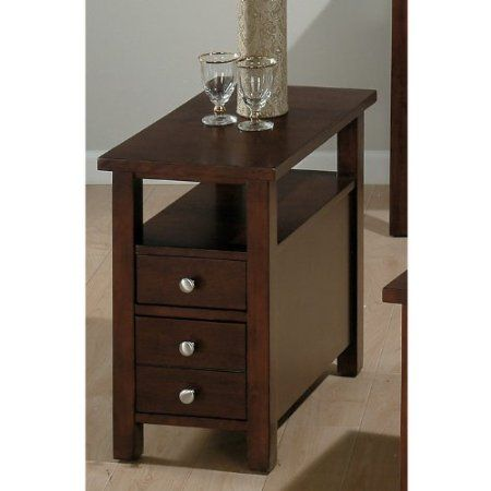 Jofran Small Space Milton Cherry Chairside Table   End Tables At Hayneedle