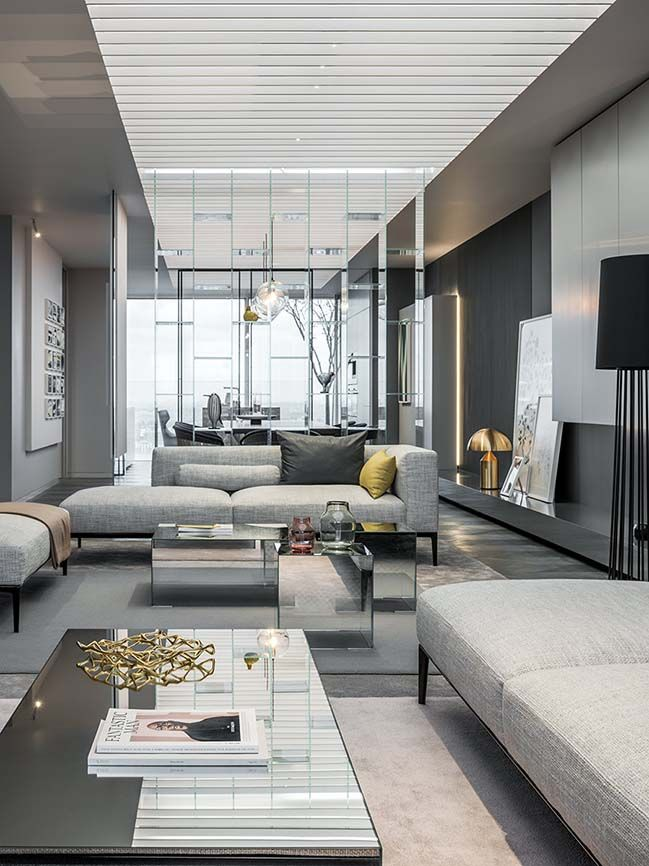 Show Living Rooms Already Decorated: Show Apartment: Shades Of Grey In Shanghai By Ippolito