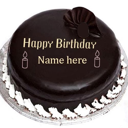 Write Name On Chocolate Birthday Cake Images With Edit Online Pics Cakes Picturesonline