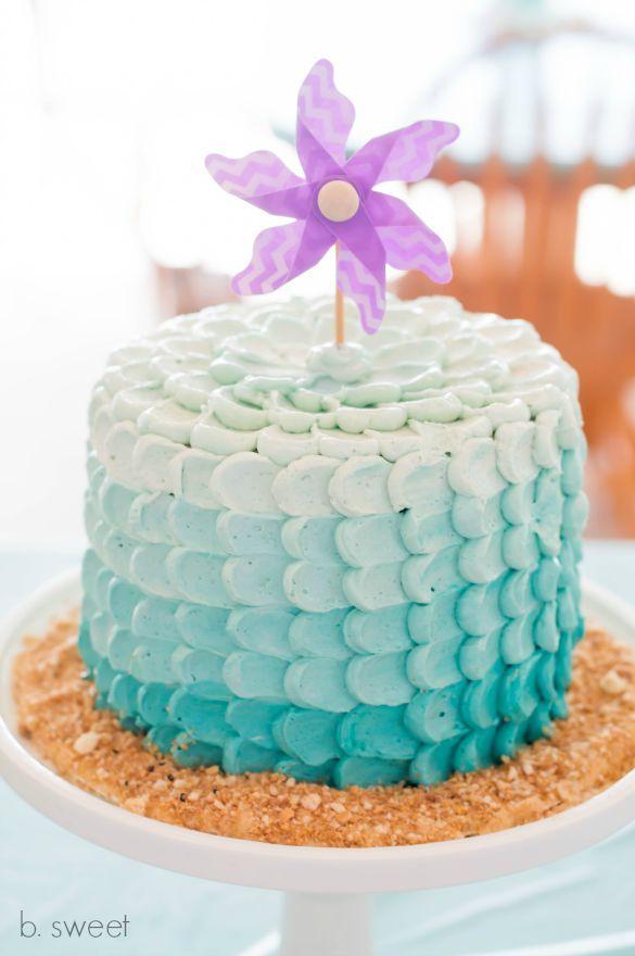 Under the Sea - Ombre Petal Smash Cake - b. sweet