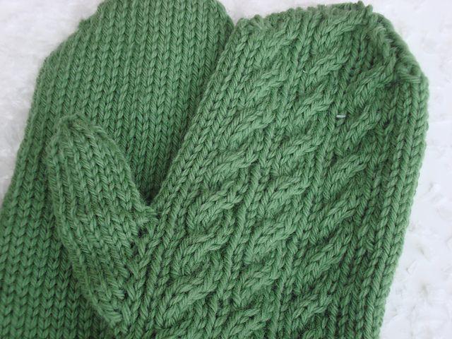 Free! - Irish Hiking Mittens Knitted - Mittens, gloves ...