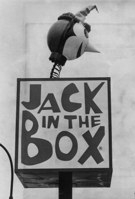 The Jack-in-the-Box sign on Deer Park Avenue in North Babylon on April 18, 1975.