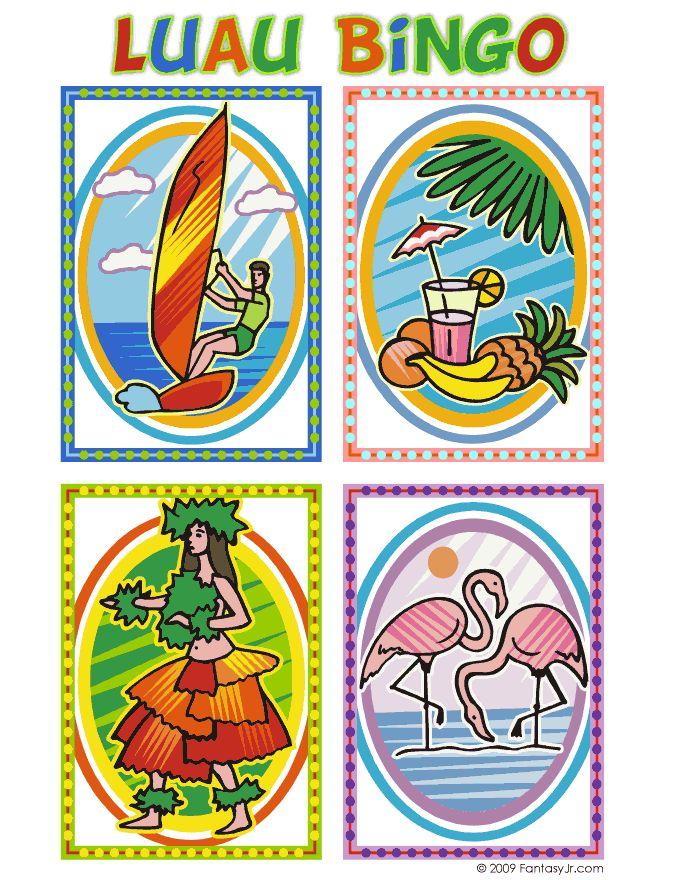 Luau Bingo Calling Card 1