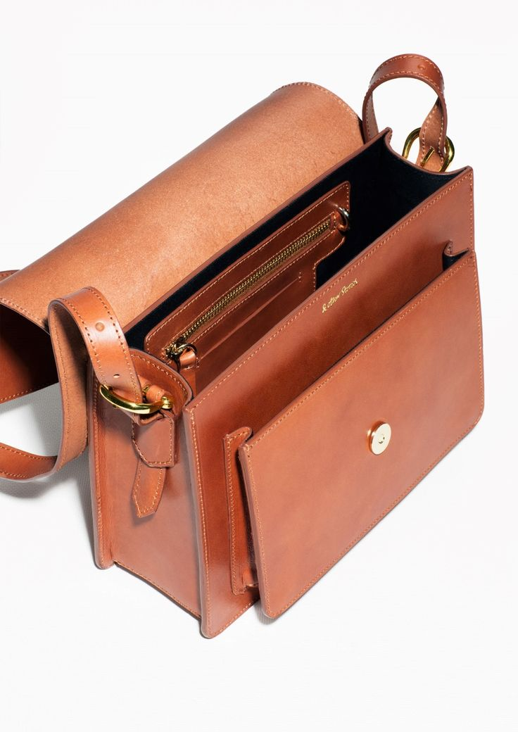 & Other Stories | Saddle Stitch Leather Shoulder Bag