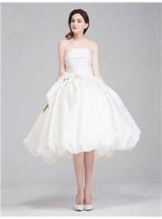All Sizes Garden/Outdoor Sashes/Ribbons Beach  Lace-up Simple & Casual Tea-Length Natural Wedding Dress