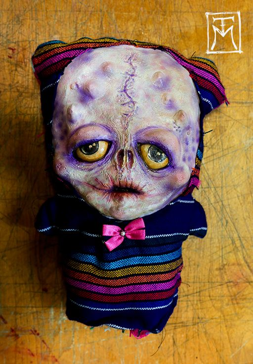 *SOLD This was my first ever lil Sophisticato. His name is Ray and he lives in NYC with my bestie.   (Latex and fabric mixed media creepy cute art doll, Talissa Mehringer © 2014)