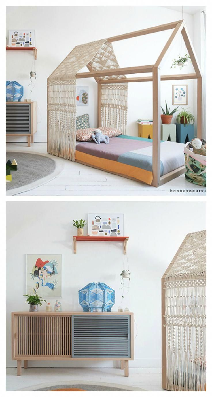 An amazing kids room with artistic flair and lots of little ...