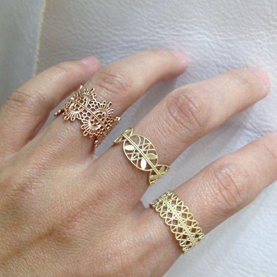 Lace rings - Grace Lee Designs - Via beatpie