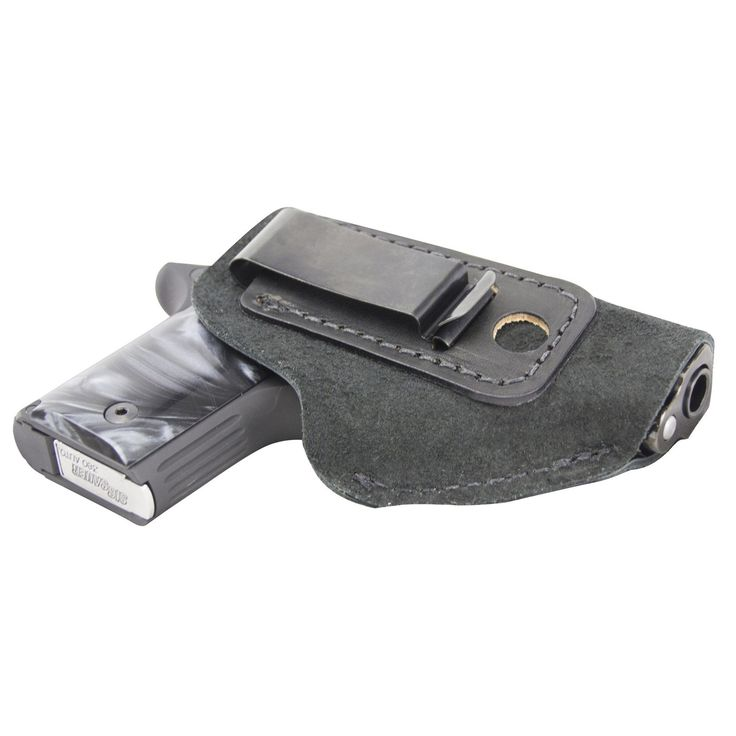The Ultimate Suede Leather IWB Holster - Fits .380 Autos - Lifetime Warranty - Made in USA