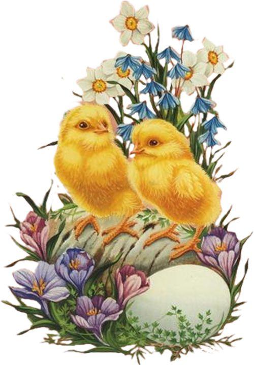 Пасха - красивые винтажные рисунки: дети, цветы, пасхальные яйца
